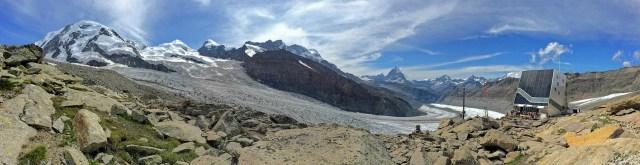 Der Blick auf Gornergletscher und die Bergwelt ist phänomenal