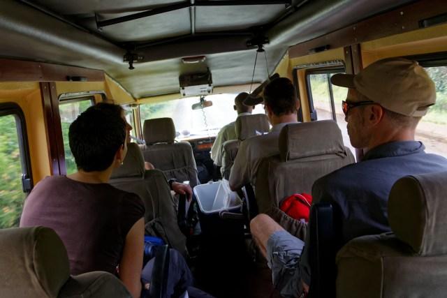 Stilleben aus dem Innern unseres Taxis