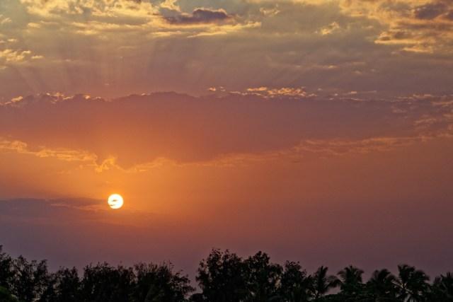 Heute hat's mit dem Sonnenaufgang halbwegs geklappt