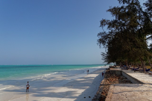 Am Strand sind eher weniger Leute anzutreffen...