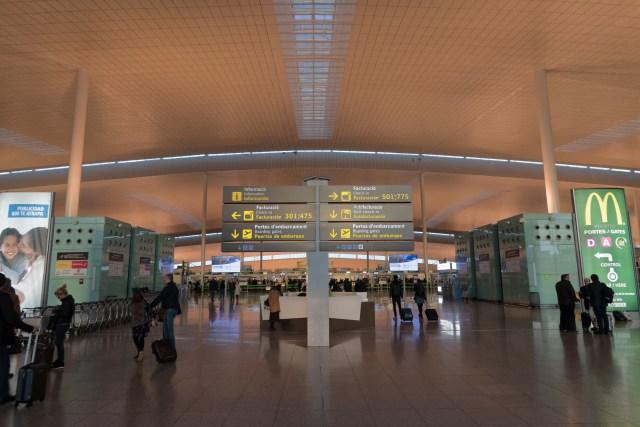 Die Platzverhältnisse im Terminal 1...