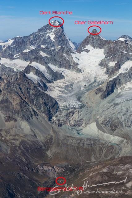 Mächtige 4000er und Berggasthaus Trift