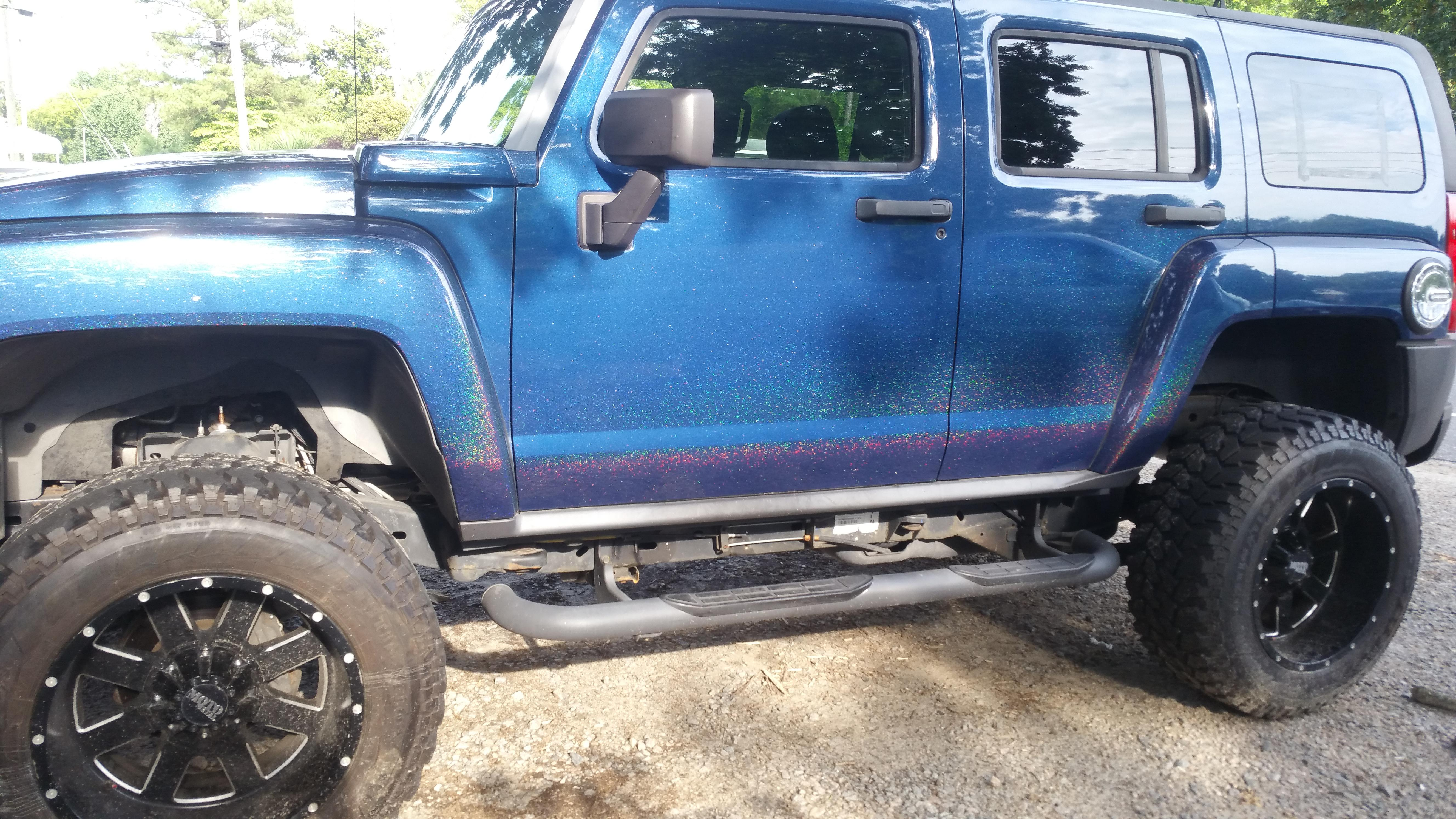 "My H3 6"" of lift 35s 20x12s Custom paint Hummer Forums"