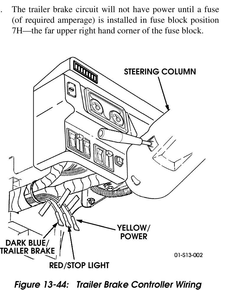 Wiring Diagram For A Trailer Brake Controller - Wiring Diagram