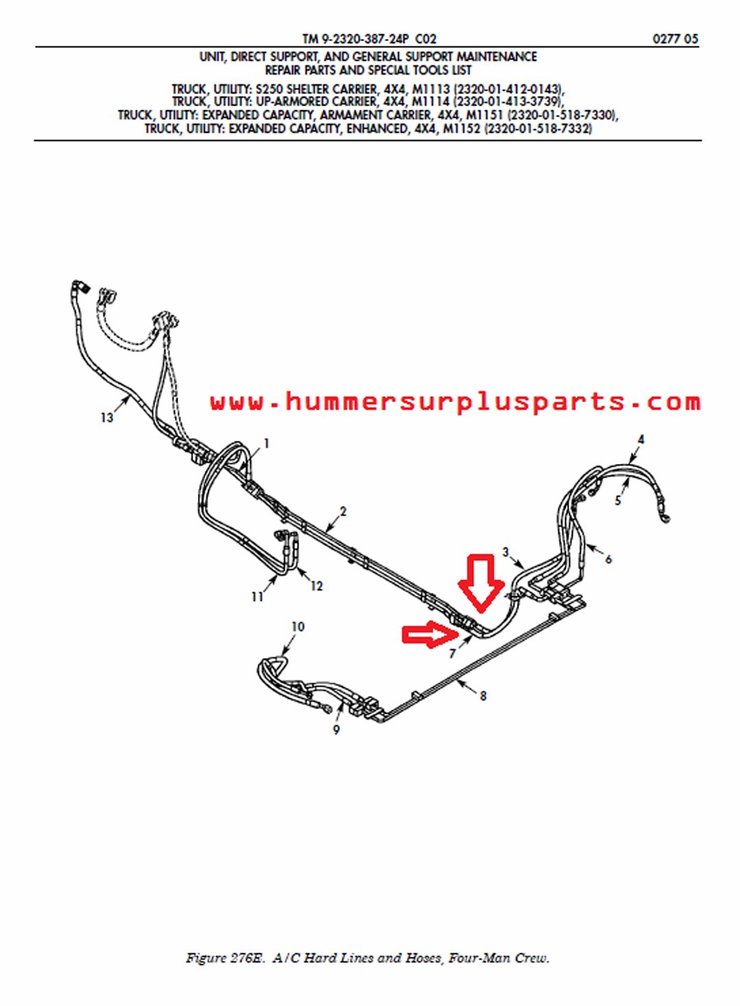 Hmmwv Parts Diagram Nice Place To Get Wiring Engine Am General 6015671 Hose Assembly 4720 01 536 2995 Rh Hummersurplusparts Com