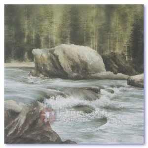Hummingbird Gallery Les-Weisbrich-Saskatchewan-River-Jasper-N.P.-Alberta-Image Les Weisbrich <p>Canadian Shoreline Series<p>Limited Editions Currently Available