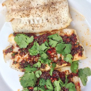 Slow-Roasted Cod with Red Chermoula
