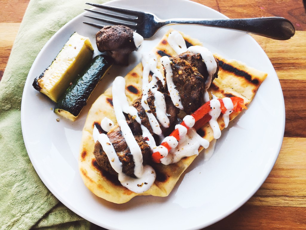 Cumin-Chile Lamb with Garlic-Lemon Yogurt Sauce 4