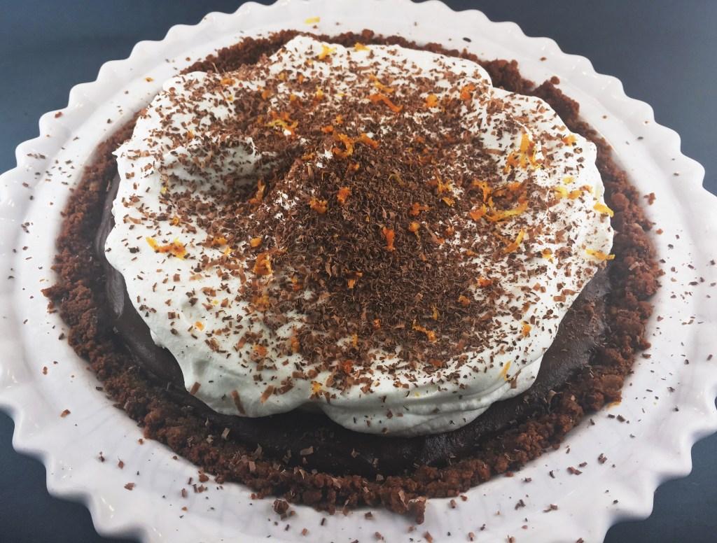 Chocolate Pie wth Gingersnap Crust Recipe