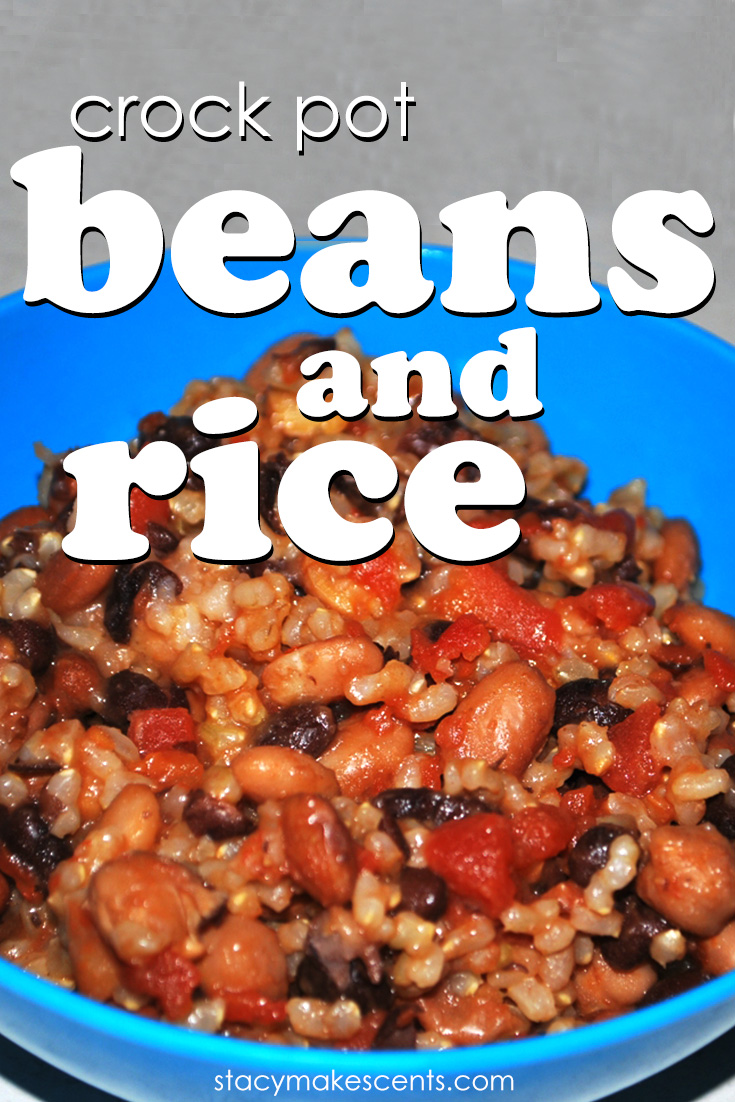 We love rice and beans!! We especially love them when we can make them in the crockpot! You're going to love this version of rice and beans.