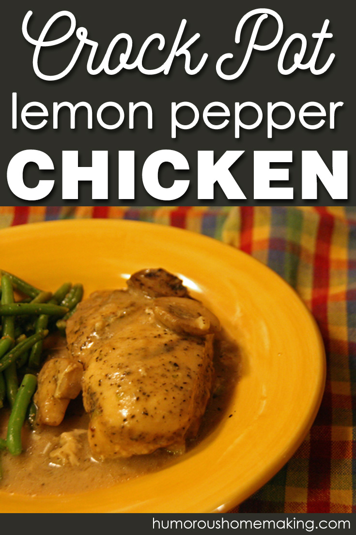 Using a homemade cream of chicken soup & lemon pepper seasoning, this Easy, Creamy Crockpot Lemon Pepper Chicken is sure to a be a winner in your family.