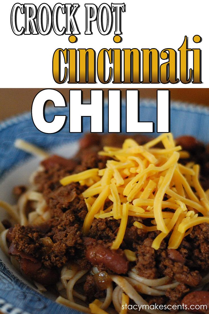 CrockPot Cincinnati Chili. We are huge fans of Cincinnati style chili. It's so good and so easy to make.