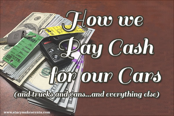 pay cash for car