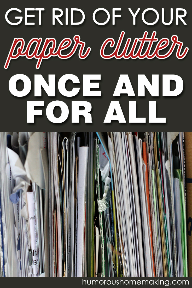 get rid of paper clutter