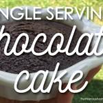 single serving cake