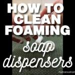 clean foam soap dispenser