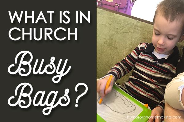 church busy bags