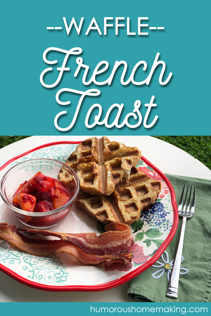 french toast in waffle maker