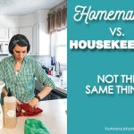 homemaking vs housekeeping