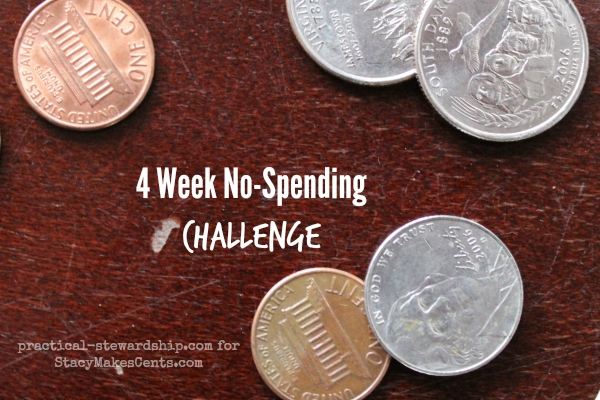 4 Week No Spending Challenge for Stacy