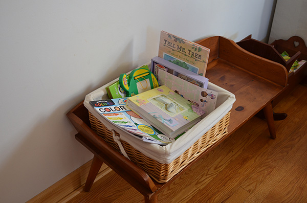 Quiet Mornings basket-after-play