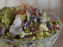 Hot Broccoli Salad