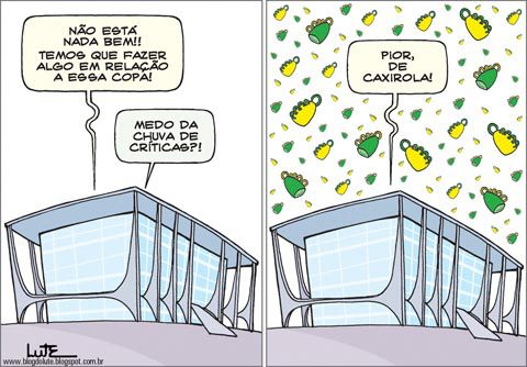 Caxirolas no Palácio do Planalto