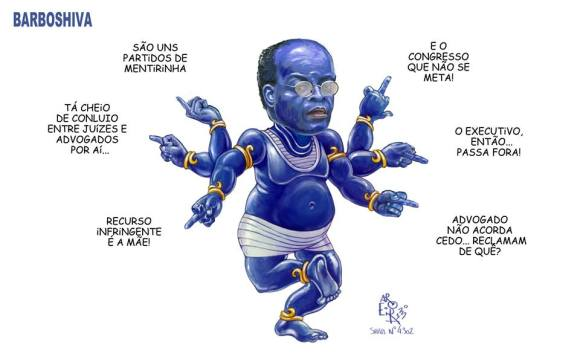 Joaquim Barbosa dispara
