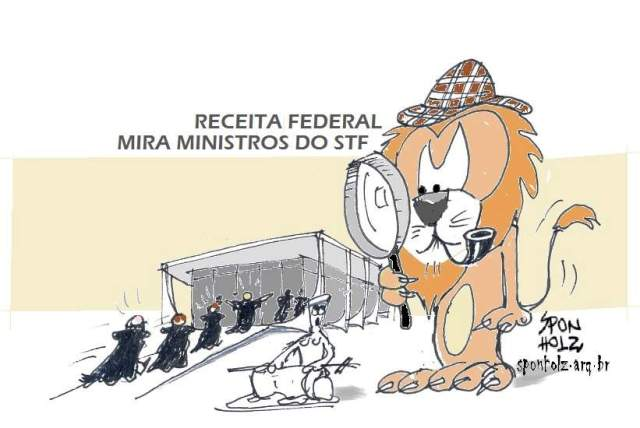 Receita Federal com os Ministros do Supremo na Mira