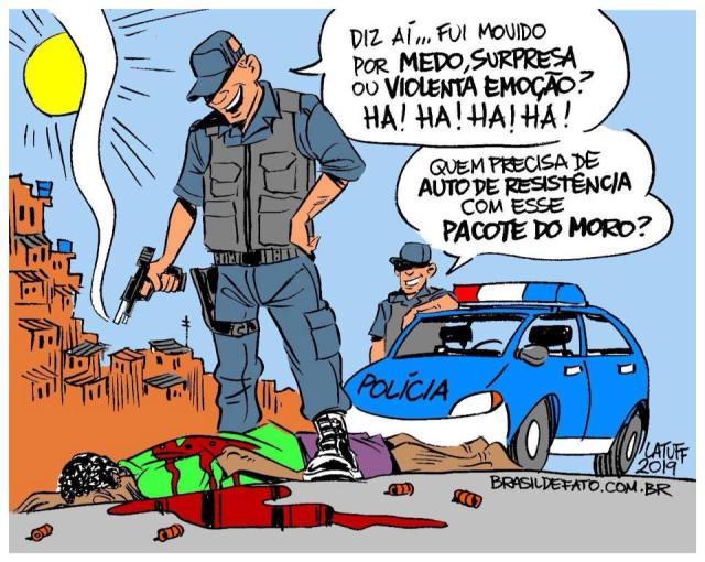 Incentivando mais assassinatos policiais