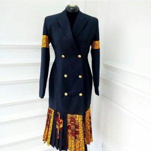 ankara tuxedo dress for work