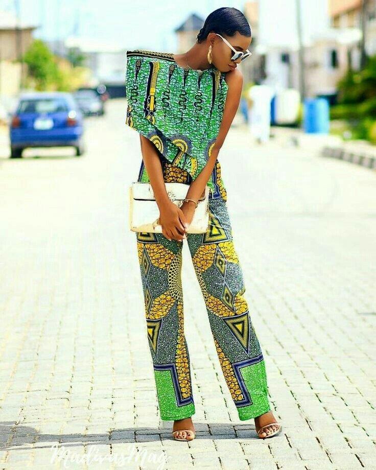 African print jumpsuit designs
