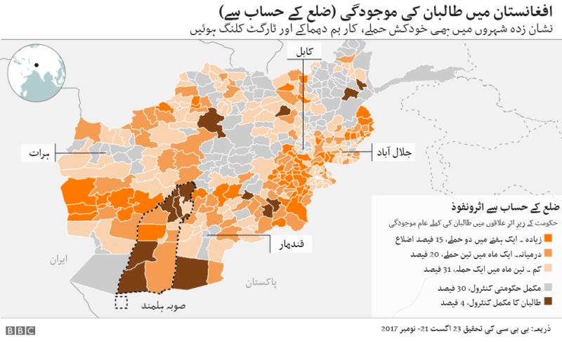 افغانستان میں طالبان کا اثر