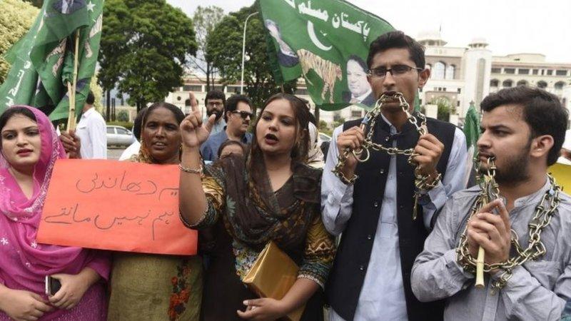 مسلم لیگ نون کا احتجاج