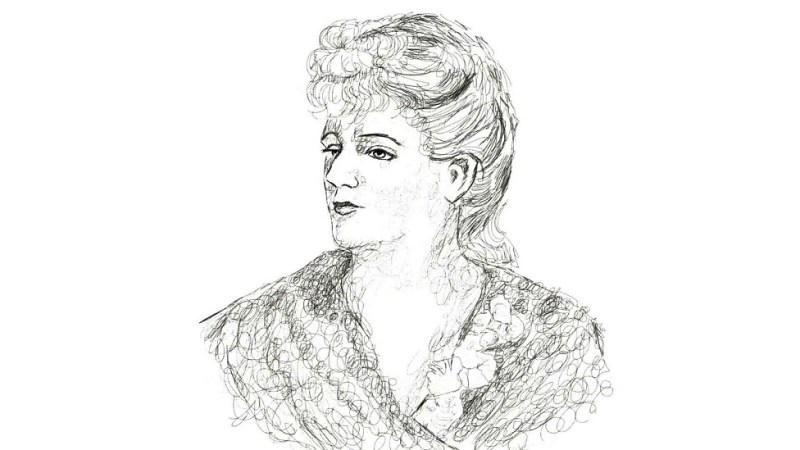 Ink drawing of Augusta Holmès