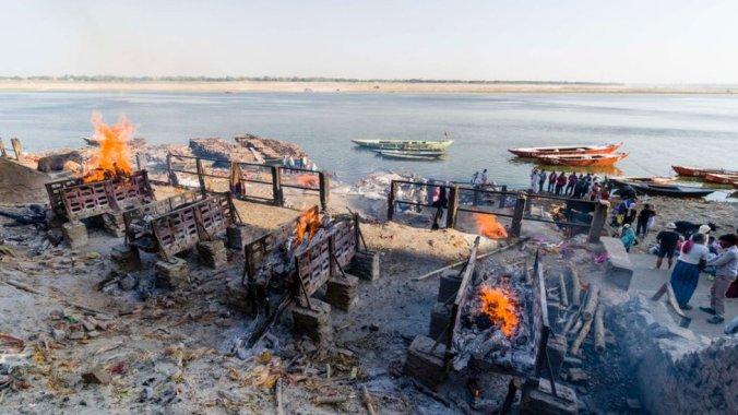 Cremation ground in Varanasi