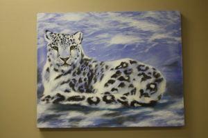 Winter Cat Painting