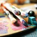 Paint Brushes with Oil Paints