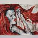Painting of red haired woman