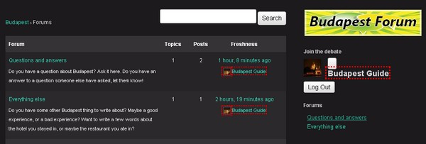 Budapest forum screenshot