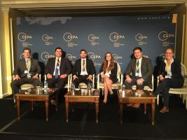CIP intern Maria Beres at the annual CEPA Forum