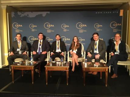 CIP intern Maria Beres at the annual CEPA Forum