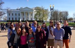 YHLP 2017 participants at the White House on a Washington DC tour