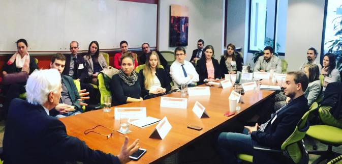 YHLP 2017 participants with Kevin Klose, former RFE/RL director, discussing the importance of an informed citizenry