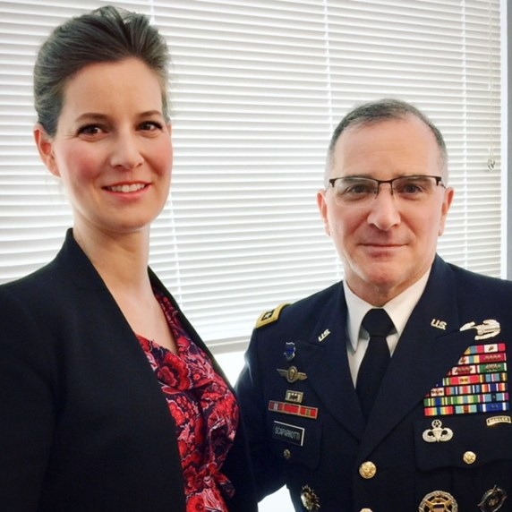 HIF Executive Director Anna Smith Lacey and Supreme Allied Commander Europe ( SACEUR) of NATO Allied Command Operations Gen. Scaparrotti