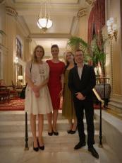 Ilus, Noémi, and Márton with Anna Smith Lacey