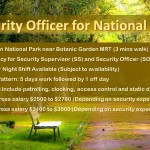 Security Supervisor and Officer required for National Park
