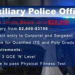 Job Vacancy - Auxiliary Police Officer (bonus $25,000)