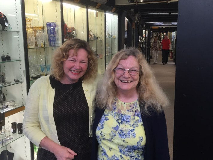 Nicola Chester and Rita Kibble at Hungerford Arcade