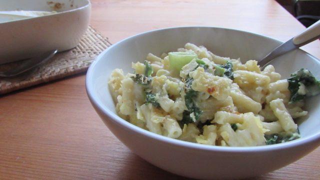 Recipe: Mac 'n' Cheese with Leeks & Kale